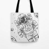 astro Traveller Retro Tote Bag