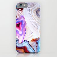 photography iPhone & iPod Cases featuring Agate, a vivid Metamorphic rock on Fire by Elena Kulikova