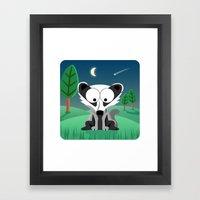 Woodland Animals Series II. Badger Framed Art Print