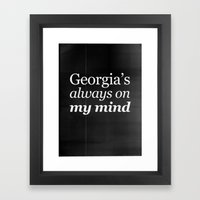 Georgia's always on my mind Framed Art Print
