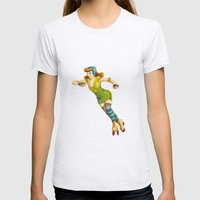 Derby Girl Womens Fitted Tee Ash Grey SMALL