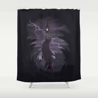 The Clock Tower Shower Curtain