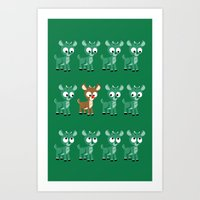 Look, It's Rudolph! (v2) Art Print