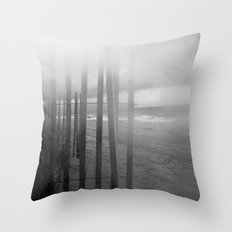 Wander ~ Black and white version Throw Pillow
