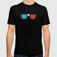 3D Geek Mens Fitted Tee Black SMALL
