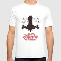Non, Je Ne Regrette Rien Mens Fitted Tee White SMALL