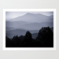 Misty Morning At The Smo… Art Print