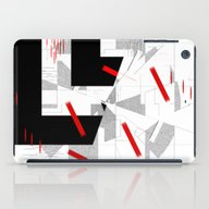 Black And White Meets Re… iPad Case