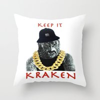 KEEP IT KRAKEN Throw Pillow