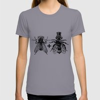 A Fly Marrying A Bumbleb… Womens Fitted Tee Slate SMALL