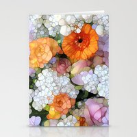 flowers Stationery Cards featuring Joy is not in Things, it is in Us! by Joke Vermeer