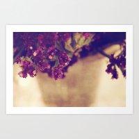 Purple Arrangement Art Print