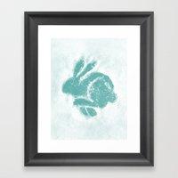 Snowbunny Framed Art Print