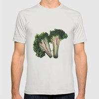 Broccoli Mens Fitted Tee Silver SMALL