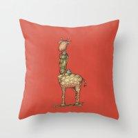 Cleo Giraffe Throw Pillow