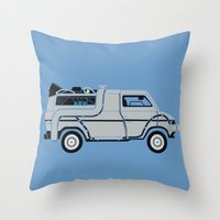 Back to The Future DeloreVan Throw Pillow