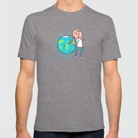 Earth Mother Mens Fitted Tee Tri-Grey SMALL