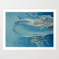 Whale Shark and Friends Art Print