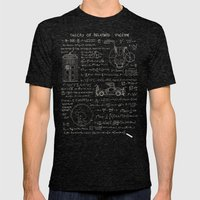 Theory of relativity : spacetime Mens Fitted Tee Tri-Black SMALL