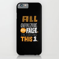 iPhone & iPod Case featuring All Generalizations by Chris Piascik