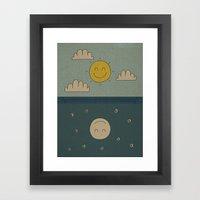 Good Day, Good Night Framed Art Print