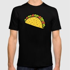It's Taco Time! Mens Fitted Tee Black SMALL