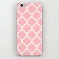 pink clover iPhone & iPod Skin