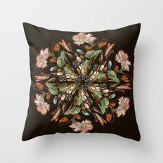 Flemish Floral Mandala 3 Throw Pillow