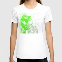 Flashy T-Rex  Womens Fitted Tee White SMALL