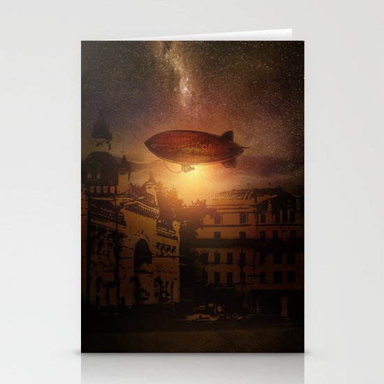 A Trip down the Sunset II Stationery Card