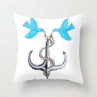 Sam Anchor Of Love Throw Pillow