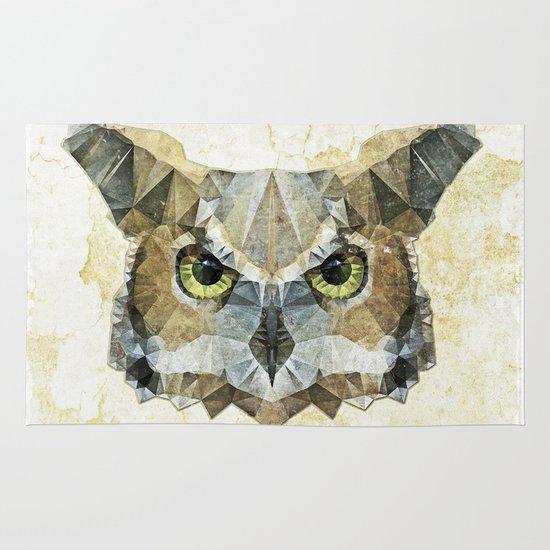 abstract owl Area & Throw Rug