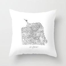 Good Ole San Francisco Throw Pillow
