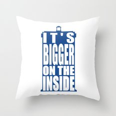 Bigger on the Inside Throw Pillow