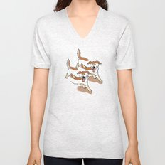 UNSTABLE HAPPY DOGS Unisex V-Neck