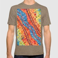 Water and lava Mens Fitted Tee Tri-Coffee SMALL
