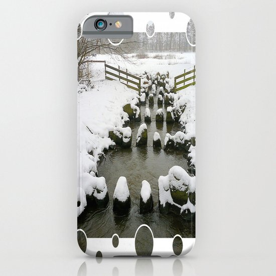 Winter Impression - Stones in the Brook iPhone & iPod Case