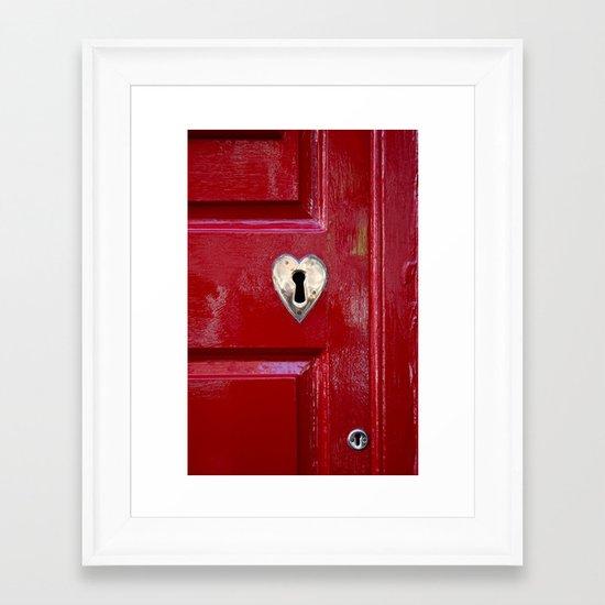 Heart Shaped Lock Framed Art Print