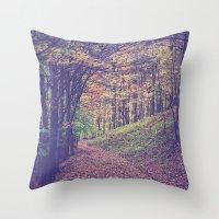 Mountain Path Throw Pillow