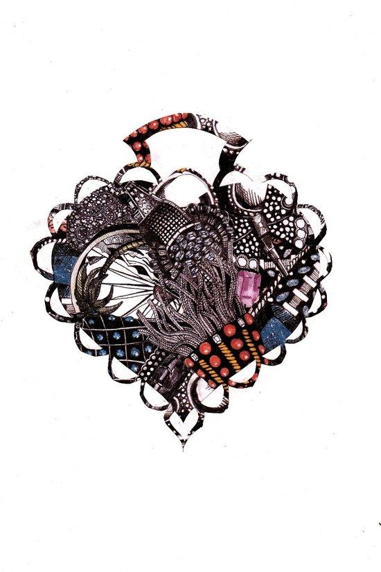 Heart Brooch Art Print
