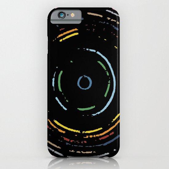 Rainbow Record on Black Closeup iPhone & iPod Case