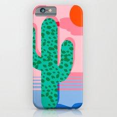 No Foolin - retro throwback neon art design minimal abstract cactus desert palm springs southwest  iPhone 6 Slim Case