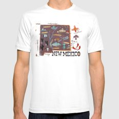 New Mexico White SMALL Mens Fitted Tee