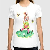 Rebecca Rabbit as Francoise's Jeanne-Marie Womens Fitted Tee White SMALL