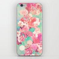 Romantic Pink Retro Flor… iPhone & iPod Skin