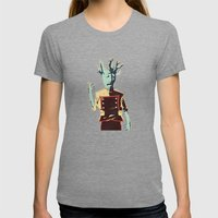 I AM GROOT Womens Fitted Tee Tri-Grey SMALL