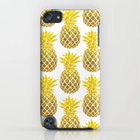 iPhone Cases featuring golden pineapples by JUNE blossom
