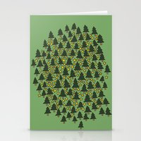 Minty Forest Stationery Cards