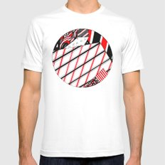 Circle White Mens Fitted Tee SMALL