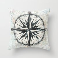 Live Travel Adventure Bl… Throw Pillow